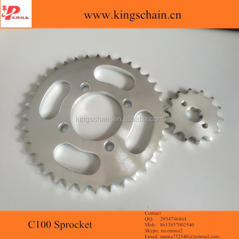 1045# galvanized <strong>C100</strong> 36 14T motorcycle chain <strong>sprocket</strong> kit