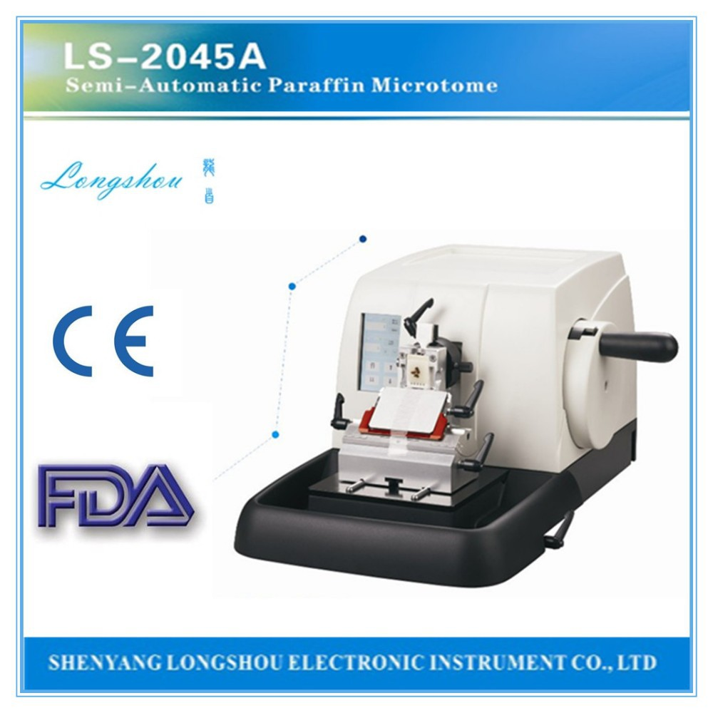 LS-2045A semi-automatic microtome lab equipment paraffine microtome medical equipment