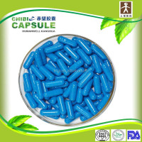 gelatin packing power pill size 0 blue and white capsule drug