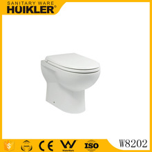 W8202 back to Wall Toilet P/S trap Elongated WC Pan for Concealed Cistern or Floor-standing Flushing Cistern