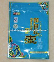 poly foil vacuum resealable food packaging/red jujube zipper bags