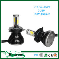 Factory Hot Sale UsCree Led H4 H13 9004 9007 4000LM IP68 5S Led Halo Headlight Bulbs For Cars
