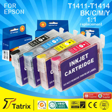 Ink cartridge T1411 T1412 T1413 T1414 refill for Epson Office 620F