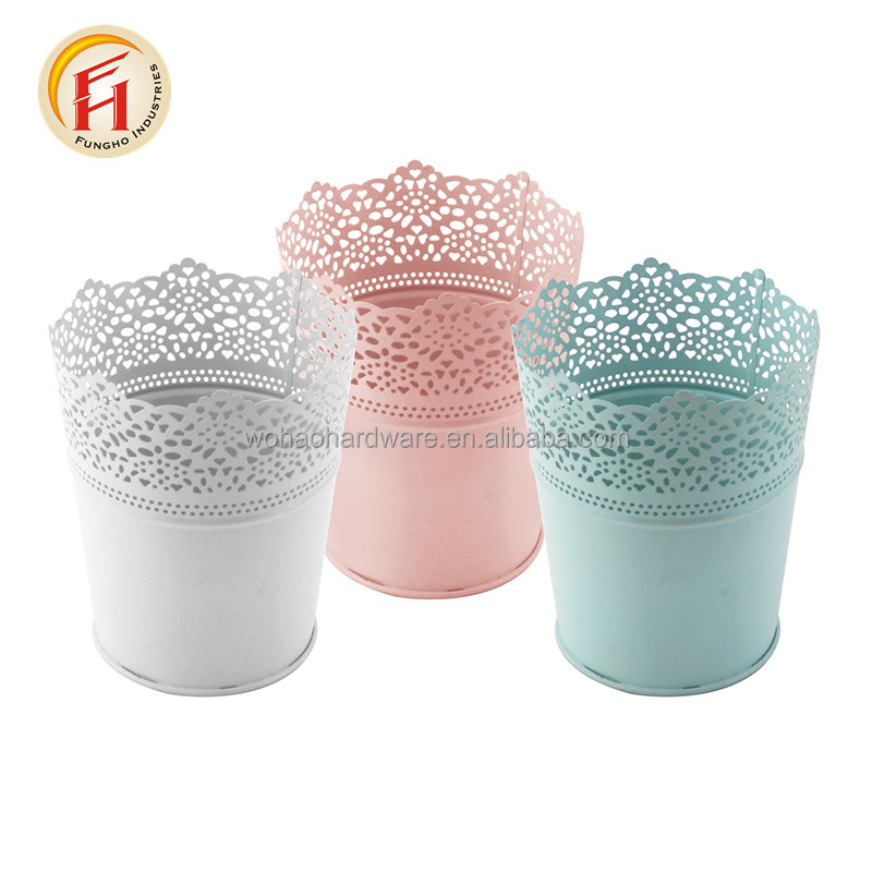 Galvanized Steel Metal Flower Bucket Activities