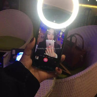 Ring Selfie Flash Light Micro 36 LEDS Portrait Fill Flash Light For iPhone Samsung Portable Smartphone Flash Fill Light