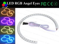 Multi-Color 120-SMD RGB LED Angel Eyes Halo Ring Lighting Kit w/ Remote Control for E36 E46 E38 E39 3 5 7 Series