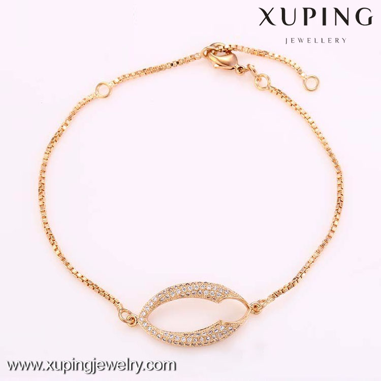 72726-Xuping wholesale charms jewelry chain link & bracelet women