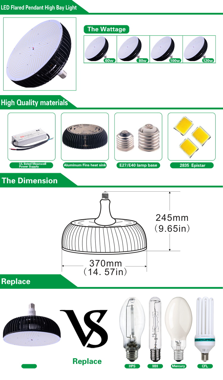 High power 200w led high bay retrofit lamp with 3 years warranty