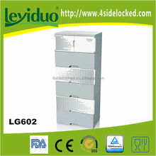 6 layer stackable plastic clothing cabinet
