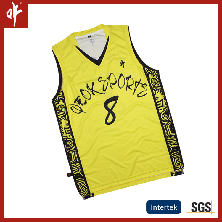 full sublimation print Custom Basketball Jersey , vest , singlet
