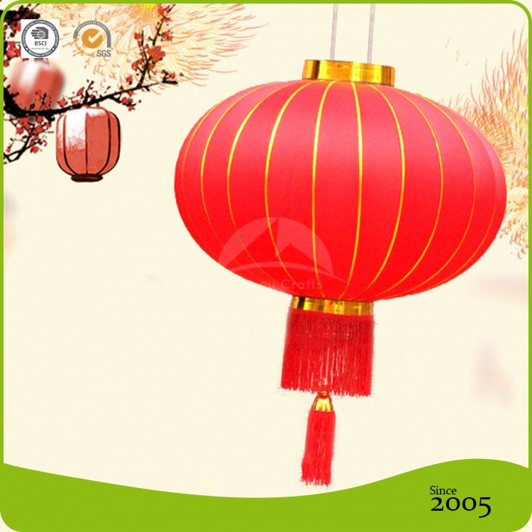 Traditional Festival Nylon Chinese Fabric Lantern For Outdoor Decoration