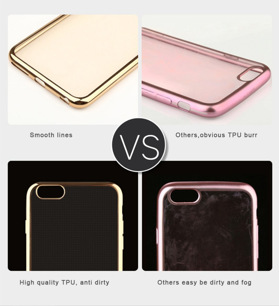 Shock-Absorption Bumper and Anti-Scratch Clear Back Case for iphone 6s