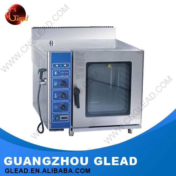 Guangzhou stainless steel 10 Trays Electric/Gas combi oven steamer