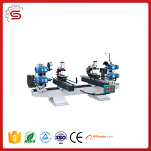 Woodcutting machine MJK-4S Double End Saw With Vertical Spindle for wood