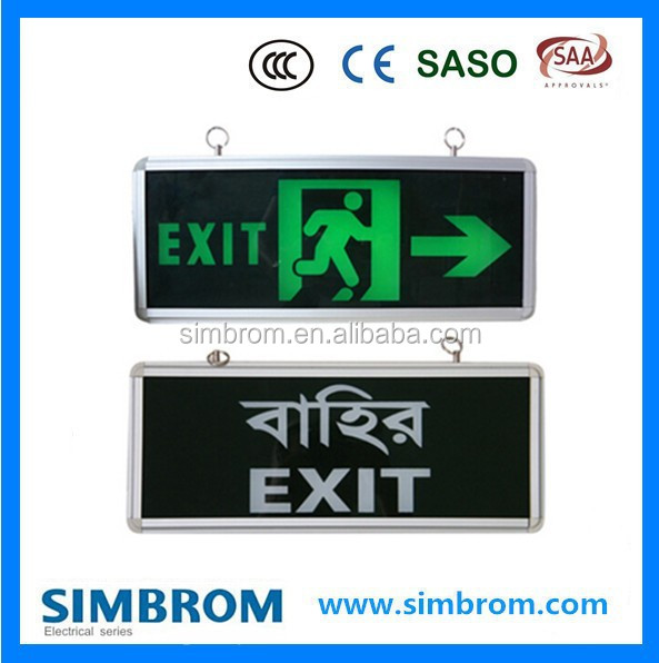 Hot selling high quality led emergency lighting fire exit sign