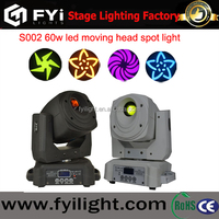 FYI-S002 60w led moving spot light with Black/White Case