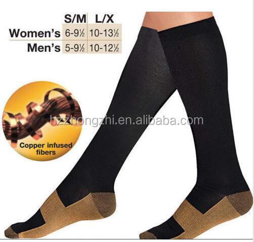 Mens 20-30mmHg nylon medical diabetic sport bonvolant compression socks
