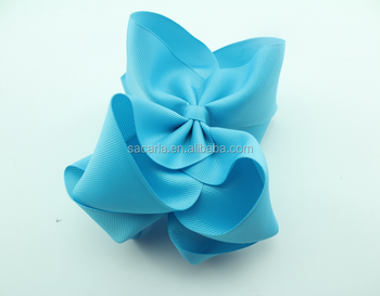 Big size double stacked bow for girls