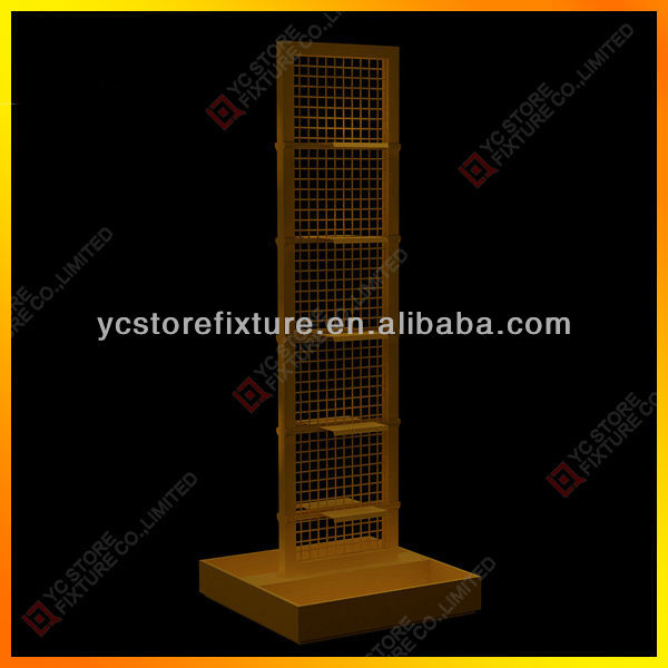 Metal sport shoes display rack with shelves
