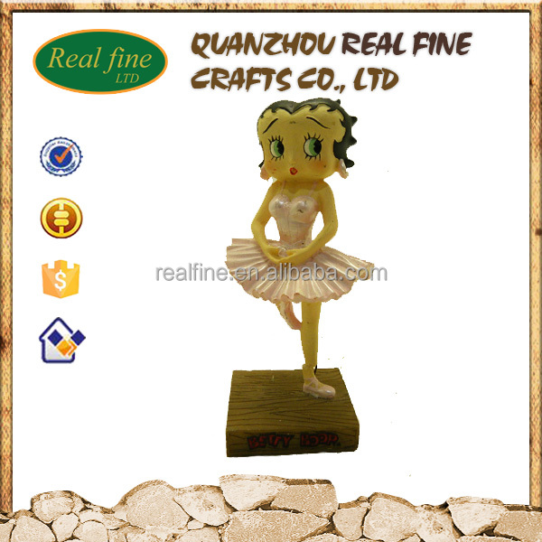 wholesale polyresin sexy girl statue Betty boop figurine statue
