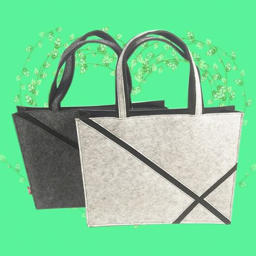 Handbags for shopping with flet material
