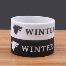 Winter Is Coming Silicone Bracelet china Game of Thrones bracelets silicone bangle Wide rubber band