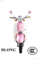 Two Wheels Electric Scooters / Street Legal Motorcycles For Sale / Pink Gas Scooter