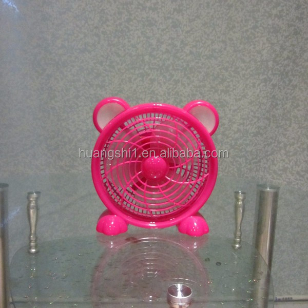 Battery operated 6v 8 inch rechargeable mini fan with LED light