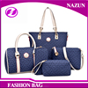 fashion beautiful printing PU leather group shoulder bags 5 bags in 1 set handbag purse