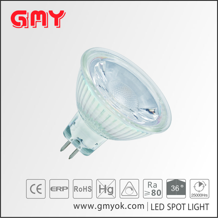 CE approval cool light 5W MR16 glass spotlight 12v led light
