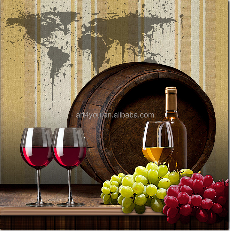 realist wine bottle and glass still life fruit oil painting on canvas