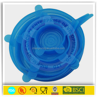 durable silicone salad microwave bowl cover lid