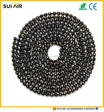 Wholesale 1-12mm gunmetal diamond cutting brass ball chain for jewelry