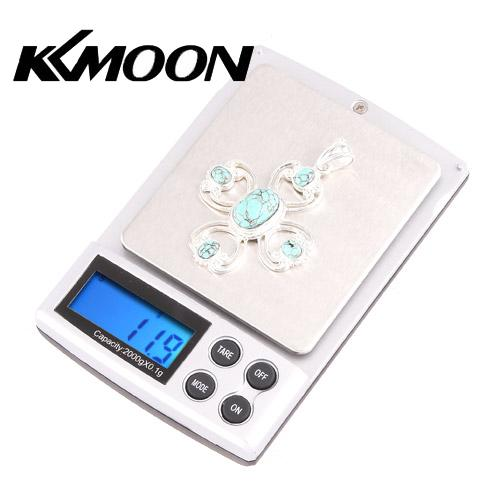 Professional 2000g/0.1g Digital Scale Pocket Weights Balance Electronic Scale Mini Jewelry Diamonds Weighing Scales LCD Display