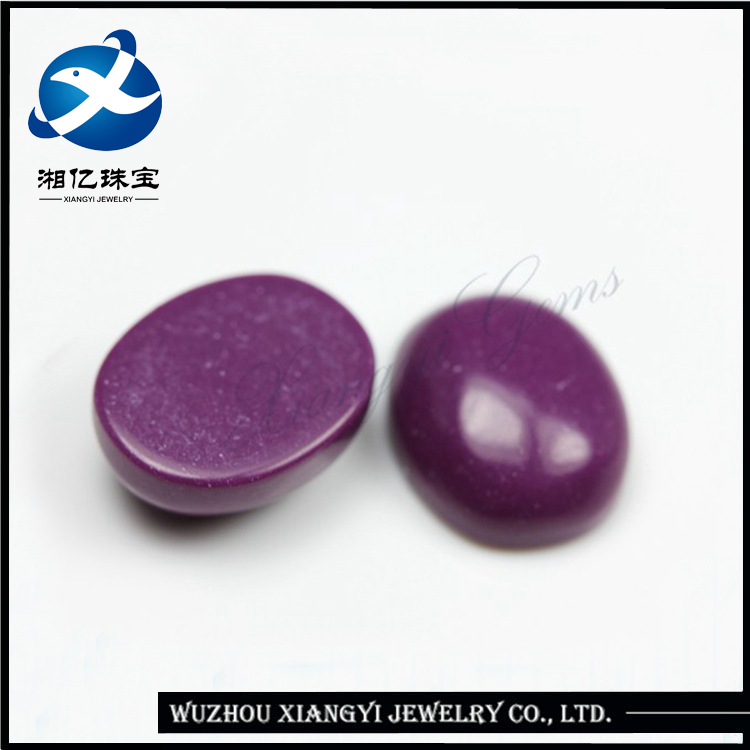 8*10MM purple red rough purple gemstone oval shape cabochon turquoise loose stones From China buy loose gemstones