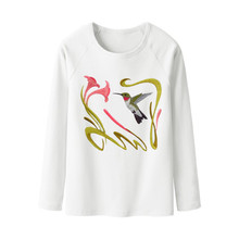 alibaba online shopping china import t shirts long sleeve custom embroidery women t shirts raglan 100% cotton no brand clothing