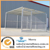 10'X10' heavy duty outdoor welded steel tubing dog kennel fence with roof shelter