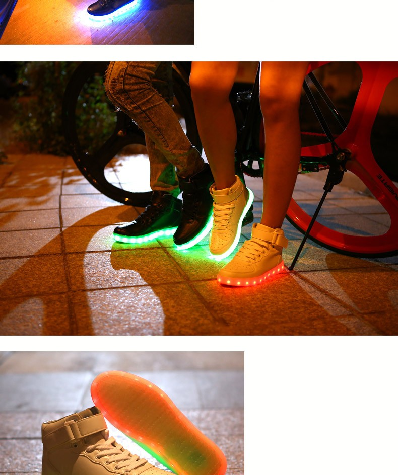 Wholesale promotion latest Fashion led sneaker, Led Light up Men Shoes Men Sneakers Fashion led sneaker led shoes chaussure led