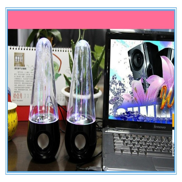 Nouvelle Eau de Danse Subwoofer Haut-Parleur Blanc Noir D'eau LED Haut-Parleur Couleur Pour Mobile Téléphones, Mp3/4 Avec USB Plug