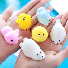 Cute Squishy Animal Silicone Toy Hand Fidget Stress Reliever Stretchy Toy Mochi Squeeze Toy