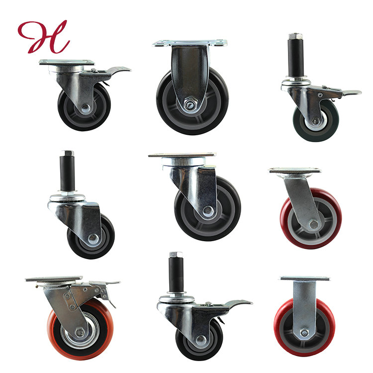 Super Elastic Rubber Trolley Caster Wheel