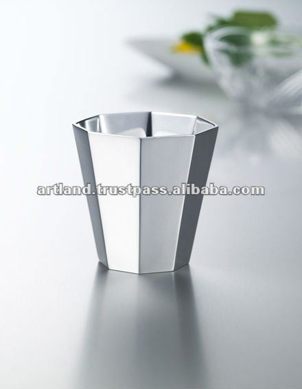 octagon cup japanese tea cup pewter tumbler MADE IN JAPAN