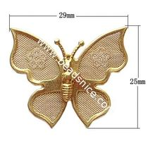 Beadsnice filigree hairpin accessory Brass net flake beading 25x29mm animal accessories for women