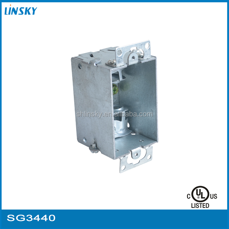 "Shanghai Galvanized sheet 2-1/2""deep switch electrical metal junction box"