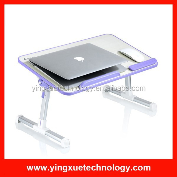 Adjustable Wooden Laptop Desk Notebook Computer Stand with Built in Cooling Fan