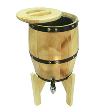 3L pine wood decorative mini wooden wine barrel for beer