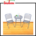 3 Piece Bistro Patio Set Table and Chairs Outdoor Wrought Iron Cafe Set