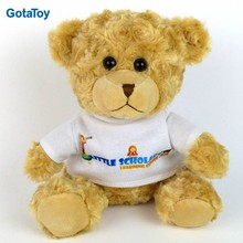 Custom plush toy with t shirt for sublimation