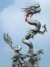 modern metal dragon stainless steel animal sculpture