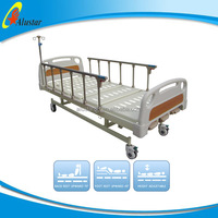 ALS-M302 manual bed with 3 functions, medical white antique iron hospital beds